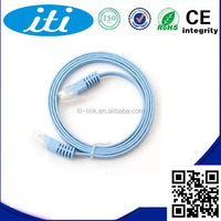 Flexible network cat5e cat6 cat7 utp ftp sftp flat lan cable patch cord cable