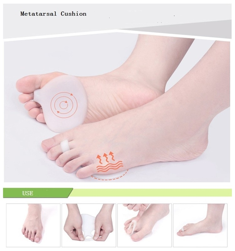 NC0075 Gel Soft Cushion Corn and Callus Forefoot Pad Metatarsal Pads Foot Care Insole