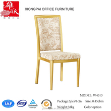 Fancy fabric covered dining room chairs W4013