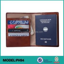 High-end Genuine Cow leather travel wallet organizer for men,passport holder