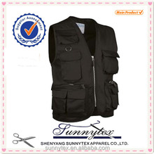 SUNNYTEX Cheap Wholesale Black Fishing Vest