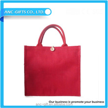 custom logo print wholesale printed jute bag/picture of jute bag