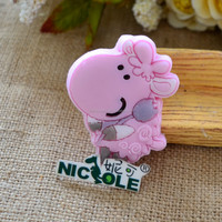 F1034 Latest cartoon design silicone Fondant cute pink sheep Cake mould