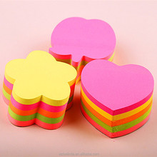 funny sticky note pad set with die cut shape