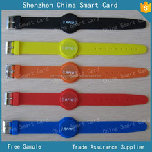 125kHz RFID chip soft silicon wristband bracelet with printing logo