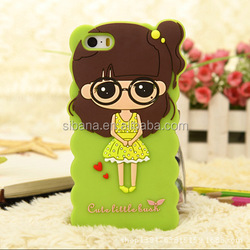 Hot selling popular japanese cartoon rabbit silicon mobile phone case for Iphone 5/6 plus