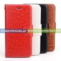 New products Ultra-thin flip stand leather protactive case for iPhone 6 case