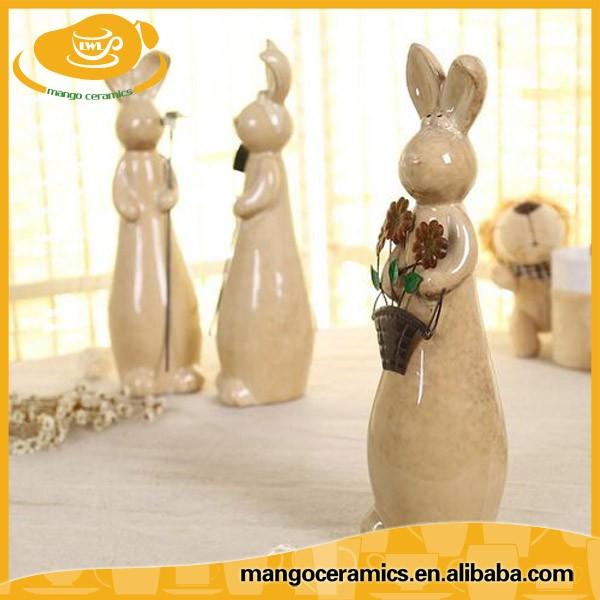 C ramique lapin figurines pour jardin en c ramique Figurine pour jardin