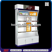 TSD-W055 Custom shopping mall cosmetic kiosk/professional makeup stand/cosmetic product display stands