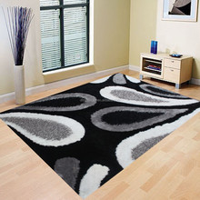 2015 fashion handmade polyester shaggy rugs from China