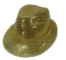 Men Women Sequin Jazz Bowler Hat Trilby Fedora Hat