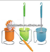 Eco-friendly plastic toilet brush with holder cleaning brush KX-917