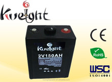 2V 150AH solar deep cycle solar panel battery pack