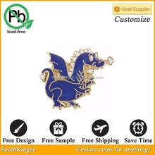 Animal shaped metal custom lapel pin for women coat