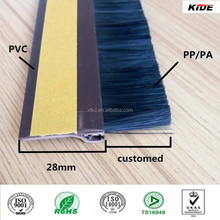 PVC strip with brush wooden door seal strip