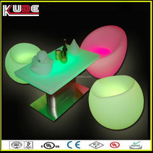 China factory supply LED outdoor illuminated furniture/Acrylic led furniture with RGB lid light