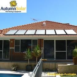 DIY black solar panels to heat pool reducing pool heating costs