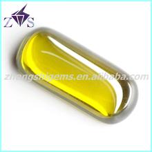 Hot Sale Products Cabochon Flat Cut Peridot Zirconia Gemstone
