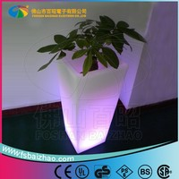 illuminated flower vase for dining room/luminous flower pot for hotel decoration
