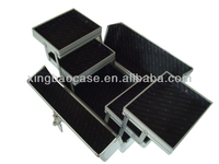 Cosmetic train case, factory direct sale cosmetic case and makeup box aluminium box, silver makeup case