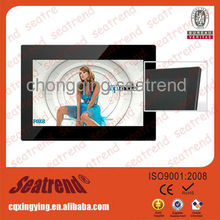 digital photo frame support photo/music/video, CE&ROHS approved high Resolution 1080p digital photo frame displays