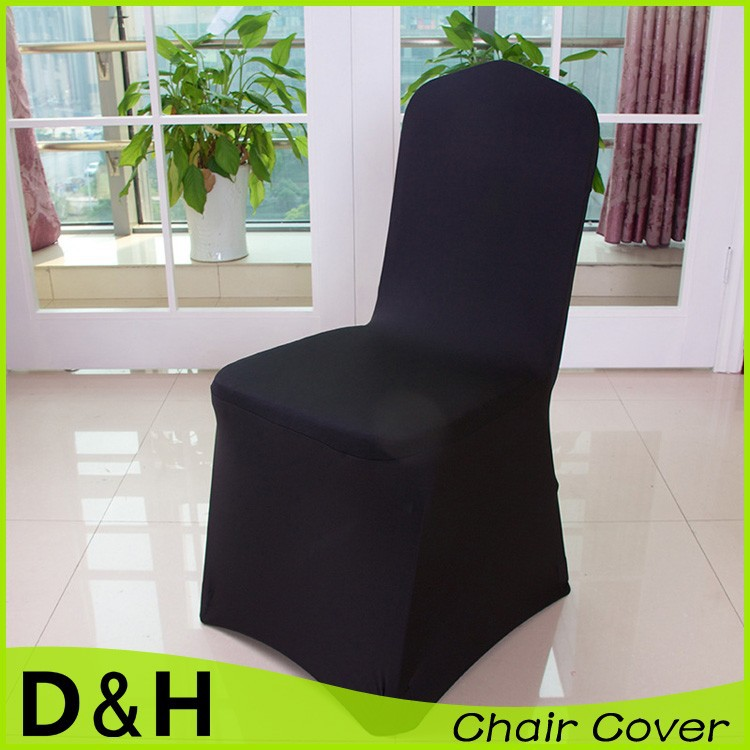Wholesale high quality spandex chair cover flat base for wedding