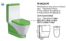 CLASIKAL Sanitary ware wholesale direct cheaper price green with white color ceramic toilet bowl