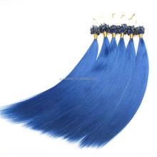 Eureke hair fast delivery wholesale keratin pre bonded colored Brazilian hair I/U/Vtip micro loop ring hair extensions
