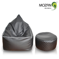 new design sofa great extra sofa casual lifestyle adults sitting bean bag puff pu faux leather sofa