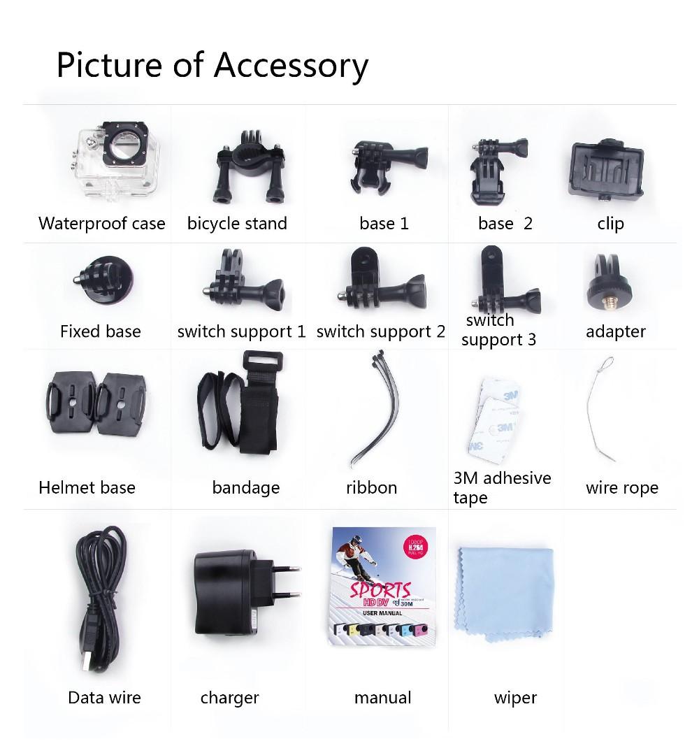 Оригинальная камера SJ4000 Full HD Waterproof 1080P Sports Cam Алматы - изображение 2. Другая марка - Алматы.
