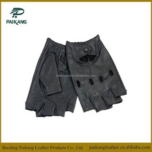 Fashion black genuine gloves motorcycle, bicycle gloves, leather motorcycle gloves