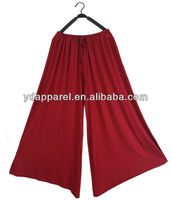 2013 new arrival plus-size modal wide-leg dress pants,elastic pantskirt,large size trousers