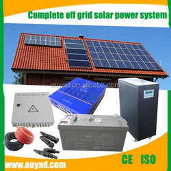 off grid solar power system with solar panel 250 watt and deep cycle battery