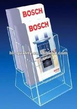 Acrylic Material Acrylic Brochure Holder, Flyer brochure holder