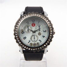 leather wrist stainless steel case back pure time man watch