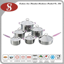 12Pcs Contemporary stainless steel pink cooker