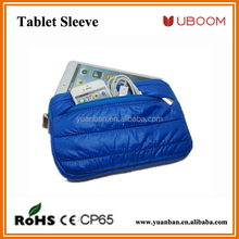 Tablet sleeve with Down jack + Fluff material high quality