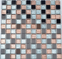 Hot-melting glass mosaic / Swimming Pool mosaic/ Popular mosaic tile for interior wall