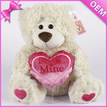 Plush signature bear with lovely heart