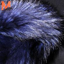winter coat dyed raccoon fur