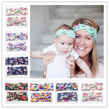Mommy & Me Headbands With floralFabric Baby Girl Headband Photo Prop Gift for Mom and Baby Girl Matching Comfortable Fit Cutenes