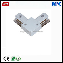hot sale light L type connector led tracklight white plastic hdmi conector sliver