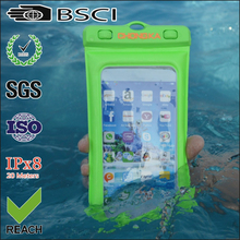 waterproof pvc phone bag cover with armband