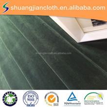 100% polyester velvet cover for suit or furnishing garment velvet