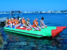Cheap double inflatable banana boats for 4, 6, 8, 10 person