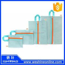 4 PCS Solid Color Nylon Mesh Cosmetic Bag Packing Organizer Storage Bag