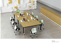 Modern High Quality Steel Frame Conference Table, Office Meeting Desk