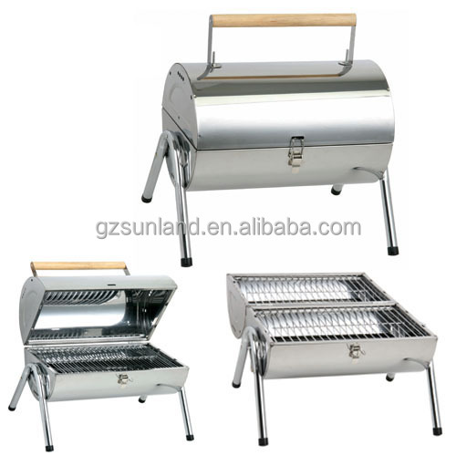 Small size large cooking area stainless steel charcoal bbq
