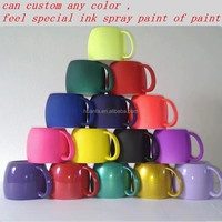 best selling products new creative variety ceramic mug with light rubber paint