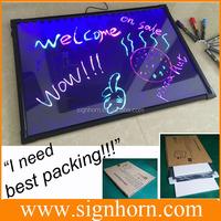 Hot sale cheap price 50*70 black light dry erase board